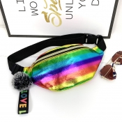 Lovely Trendy Rainbow Striped Multicolor Crossbody