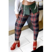 Lovely Trendy Grid Red And Black Pants
