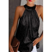 Lovely Trendy Sleeveless Black Plus Size Camisole