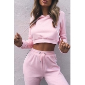 Lovely Sportswear Patchwork Light Pink Loungewear