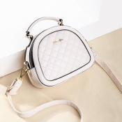 Lovely Stylish Zipper Design White Crossbody Bag