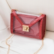Lovely Chic See-through Red Crossbody Bag