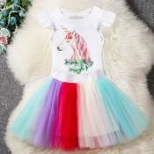 Lovely Sweet Cartoon White Girl Two-piece Skirt Se