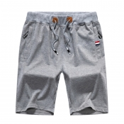 Lovely Leisure Lace-up Light Grey Shorts