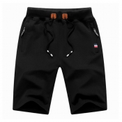 Men Lovely Leisure Lace-up Black Shorts