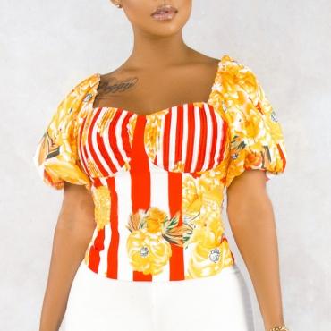 Lovely Sweet Print Multicolor Blouse