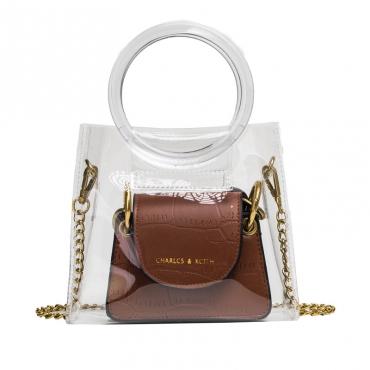 Lovely Sweet See-through Brown Crossbody Bag