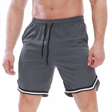 Lovely Sportswear Patchwork Grey Shorts