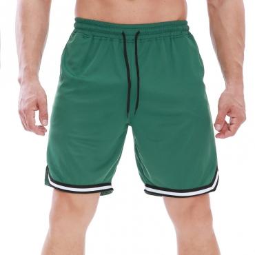 Lovely Sportswear Patchwork Green Shorts