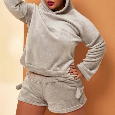 Lovely Casual Basic Grey Plus Size Sleepwear