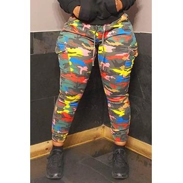 Lovely Leisure Camo Print Pants