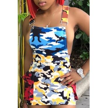 Lovely Casual Camo Print Mini Dress