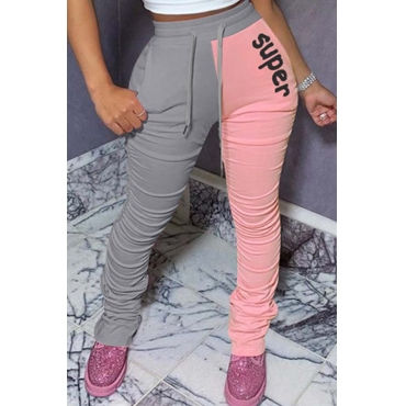 Lovely Leisure Patchwork Pink Pants