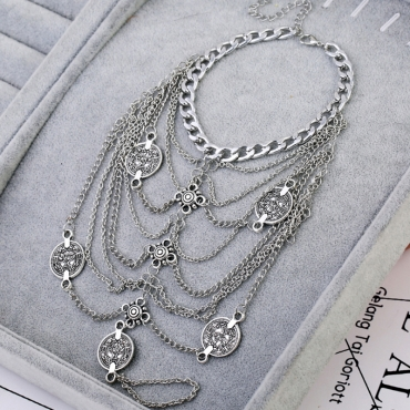 Lovely Stylish Silver Body Chain