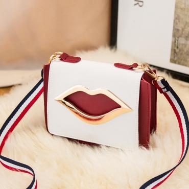 Lovely Trendy Lip Red Crossbody Bag