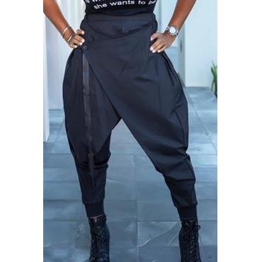 Lovely Stylish Asymmetrical Black Pants