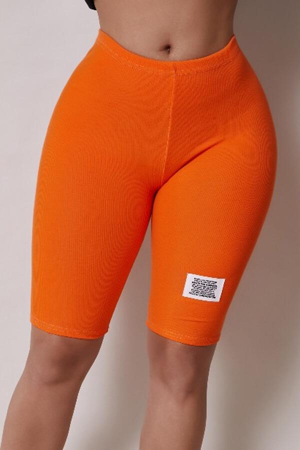 Lovely Casual Basic Skinny Orange Shorts фото