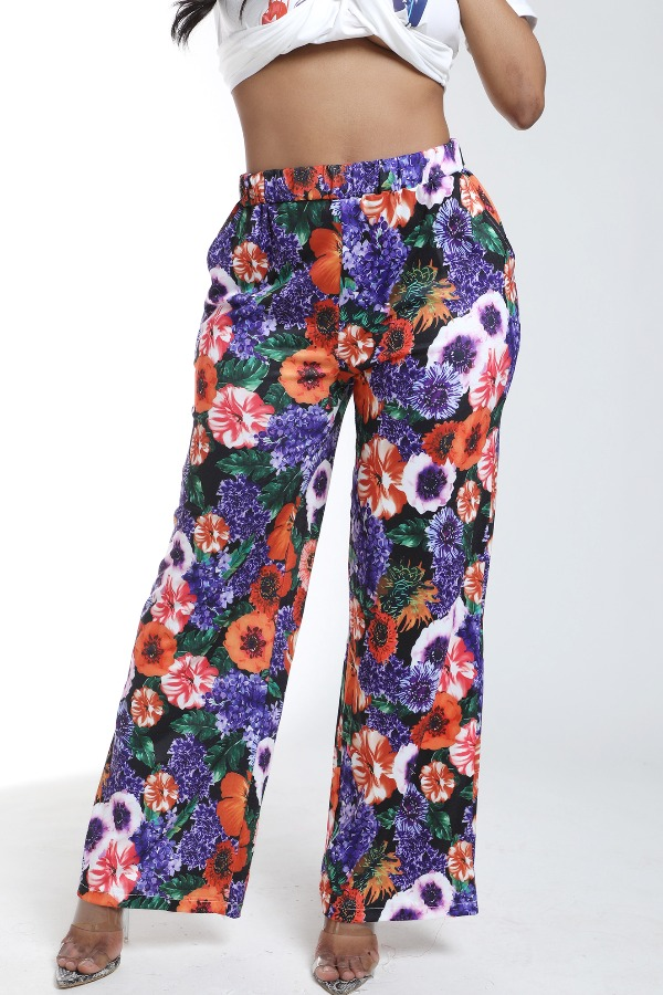 Lovely Bohemian Print Multicolor Pants