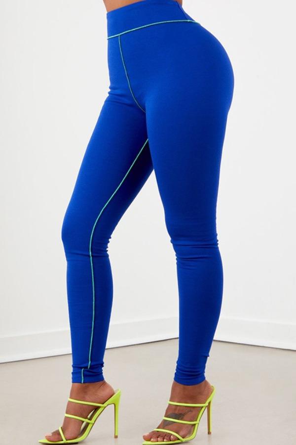 Lovely Sportswear Skinny Blue Two-piece Pants Set