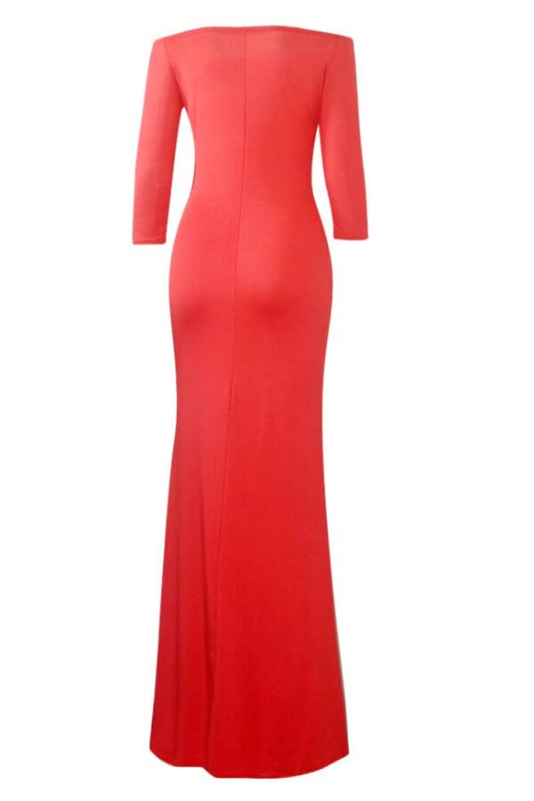 LW BASICS Plus Size Off The Shoulder Prom Dress