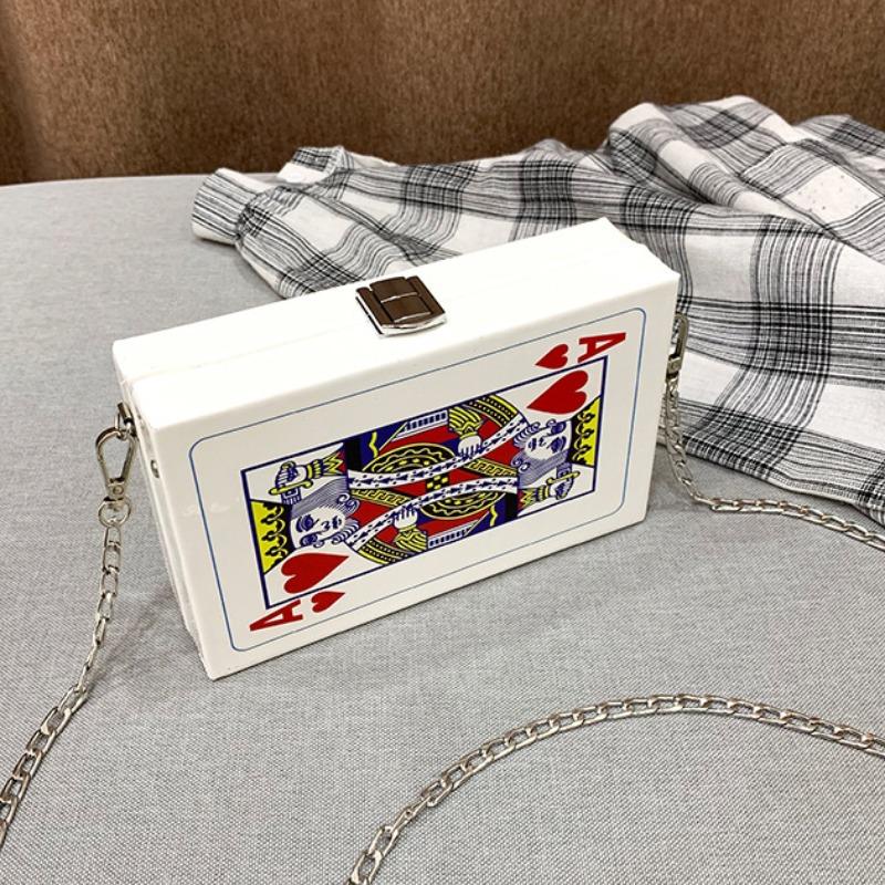 lovely Chic Print White Crossbody Bag