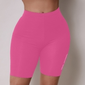 Lovely Sportswear Patchwork Pink Pants