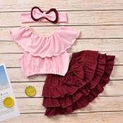 Lovely Sweet Layered Cascading Ruffle Pink Girl Tw