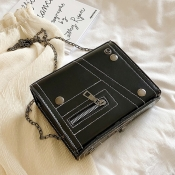 lovely Stylish Chain Strap Black Messenger Bag