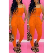 lovely Sexy Lace-up CrociTwo-piece Pants Set