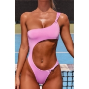 lovely Cut-Out Pink One-piece Swimsuit