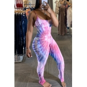 Lovely Stylish Print Pink One-piece Jumpsuit