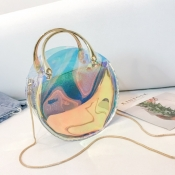lovely Chic See-through Gold Crossbody Bag