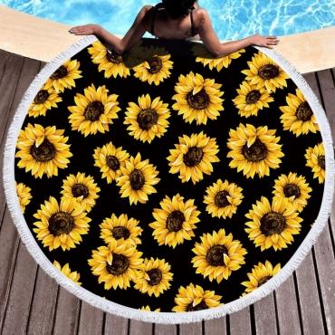 Lovely Trendy Print Black Blanket