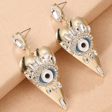 Lovely Trendy Eye Gold Earring
