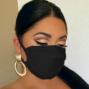 Lovely Casual Basic Black Face Mask