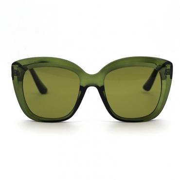 lovely Chic Big Frame Design Green Sunglasses