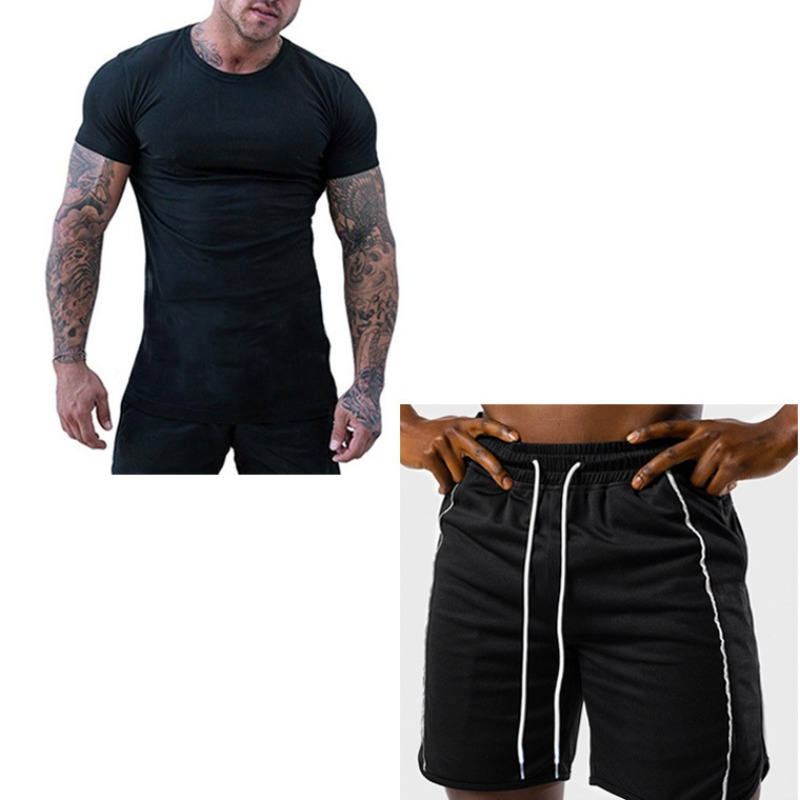 Lovely Sportswear Lace-up Black Two-piece Shorts Set фото