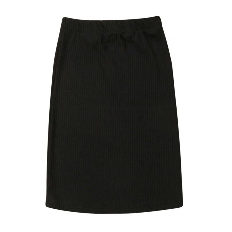 lovely Casual Basic Black Girl Skirt