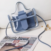 lovely Casual See-through Blue Messenger Bag