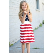 lovely Independence Day Casual Dot Print Patchwork