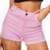 Lovely Leisure Basic Pink Shorts