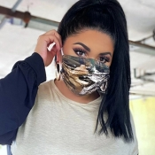 Lovely Casual Print Brown Face Mask