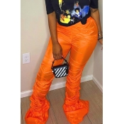 lovely Leisure Fold Design Orage Pants