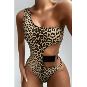 lovely Leopard Print One-piece Swimsuit