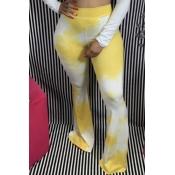 Lovely Stylish Tie-dye Yellow Pants