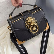 lovely Stylish Rivet Decorative Black Crossbody Ba