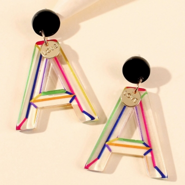 lovely Casual See-through Multicolor Earring