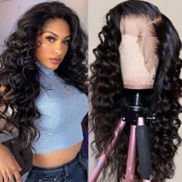 lovely Casual Curly Synthetic Black Wigs