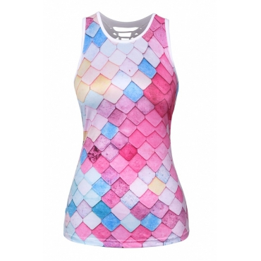 lovely Trendy Print Pink Camisole