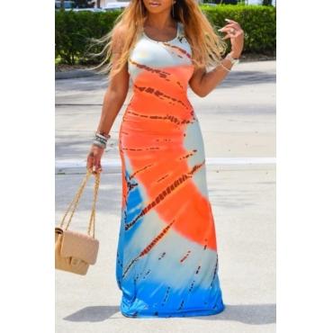 lovely Trendy Tie-dye JacinthMaxi Dress